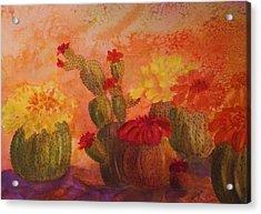 Cactus Garden Acrylic Print by Ellen Levinson