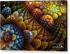 Cactus Garden Acrylic Print by Sandra Bauser Digital Art