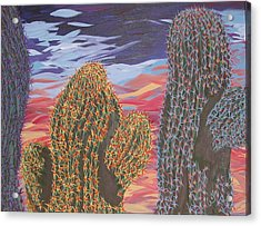 Cactus Of Color 1 Acrylic Print by Marcia Weller