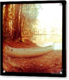 Caddo Canoe Acrylic Print by Sonja Quintero
