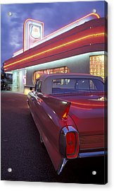 Caddy At Diner Acrylic Print by Christian Heeb