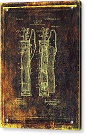 Caddy Bag Patent Drawing - 1905 Acrylic Print