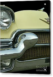 Acrylic Print featuring the photograph Caddy Classic Yellow-1 by Cheryl Del Toro