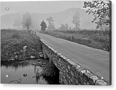 Cades Cove Black And White Acrylic Print by Frozen in Time Fine Art Photography