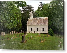 Cades Cove Church Acrylic Print by Marty Koch
