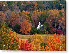 Acrylic Print featuring the photograph Cades Cove Church by Tyson and Kathy Smith