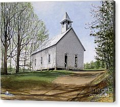 Cades Cove Methodist Church Acrylic Print