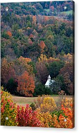 Acrylic Print featuring the photograph Cades Cove Methodist  Church by Tyson and Kathy Smith