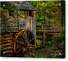 Cades Cove Mill Painted Acrylic Print