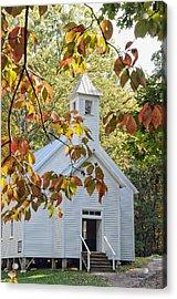 Cades Cove Missionary Baptist Church Acrylic Print