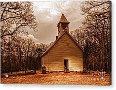 Cades Cove Primitive Baptist Church Acrylic Print