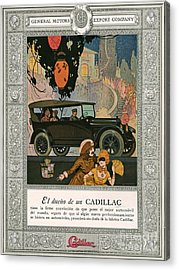 Cadillac 1920 1920s Usa Cc Cars Acrylic Print by The Advertising Archives