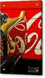 Cadillac And Coke Acrylic Print by Gary Warnimont