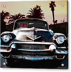 Cadillac Blues Acrylic Print by Larry Butterworth