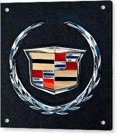 Cadillac Emblem Acrylic Print by Jill Reger