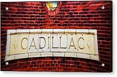Cadillac Acrylic Print by LeeAnn McLaneGoetz McLaneGoetzStudioLLCcom