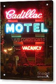 Cadillac Motel Acrylic Print
