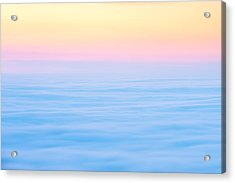 Acrylic Print featuring the photograph Cadillac Mountain In Pastels by Bernard Chen