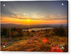 Cadillac Mountain Sunset Acadia National Park Bar Harbor Maine Acrylic Print