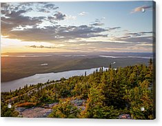 Acrylic Print featuring the photograph Cadillac Mountain Sunset  by Trace Kittrell