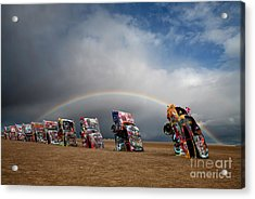 Cadillac Ranch Acrylic Print by Keith Kapple