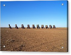 Cadillac Ranch. Acrylic Print by Mark Williamson