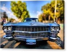1964 Cadillac Series 62 Deville Acrylic Print by George Atsametakis