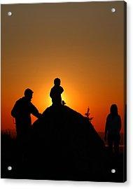 Cadillac Sunset Acrylic Print by Acadia Photography