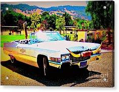 Cadillac Supreme Acrylic Print by Jodie  Scheller