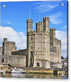 Caernarfon Castle Acrylic Print by Jane McIlroy