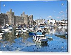 Caernarfon Castle Wales Acrylic Print by Jane McIlroy