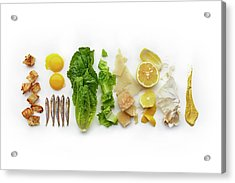 Caesar Salad Ingredients Acrylic Print by Lew Robertson