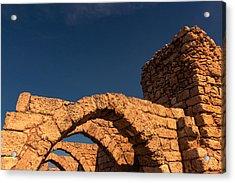 Caesarea Acrylic Print by David Gleeson