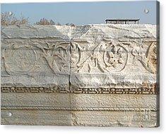 Caesarea Israel Ancient Roman Marble Detail Acrylic Print by Robert Birkenes
