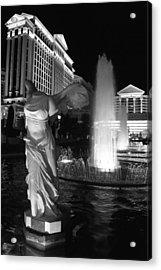 Caesars Fountain Bw Acrylic Print