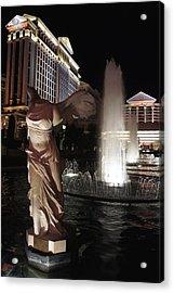 Caesars Fountain Acrylic Print by Jenny Hudson