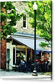 Cafe Albany Ny Acrylic Print by Susan Savad