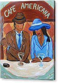 Cafe Americana Acrylic Print by Victoria  Johns