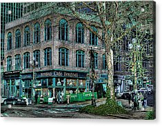 Cafe Bengoti In Pioneer Square - Seattle Washington Acrylic Print by David Patterson