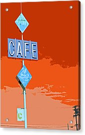 Cafe Acrylic Print by Charlette Miller