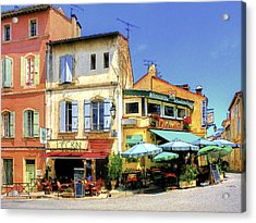 Cafe Corner Acrylic Print by Douglas J Fisher