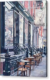 Cafe Della Pace East 7th Street New York City Acrylic Print by Anthony Butera