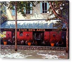 Cafe Des Arts   Acrylic Print by Michael Swanson