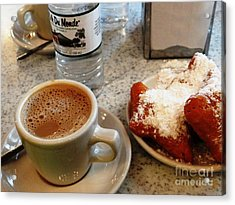 Cafe Du Monde Afternoon Acrylic Print by Ecinja Art Works