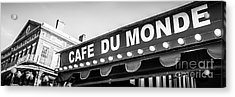 Cafe Du Monde Panoramic Picture Acrylic Print by Paul Velgos