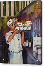 Cafe Du Monde Acrylic Print by Sue Zimmermann