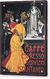 Cafe Espresso Acrylic Print by Charlie Ross