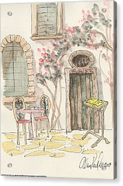 Cafe For Two Acrylic Print by Alan Paul