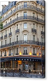 Acrylic Print featuring the photograph Cafe Francais by Brian Jannsen