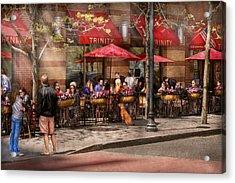 Cafe - Hoboken Nj - Cafe Trinity  Acrylic Print by Mike Savad